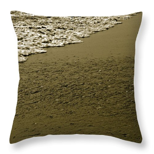 Water Throw Pillow featuring the photograph Beach Texture by Jean Macaluso