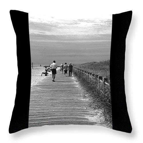 Boardwalk Throw Pillow featuring the photograph Beach Walk by J Todd