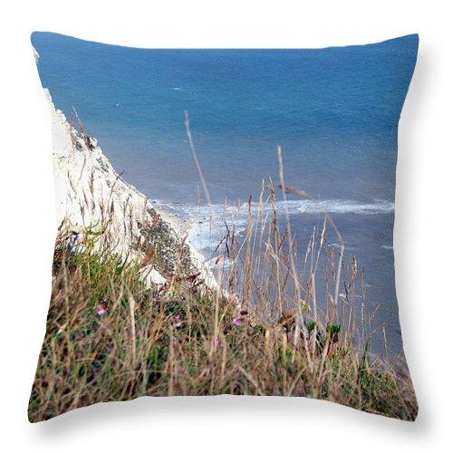 Beachy Head Throw Pillow featuring the photograph Beachy Head Sussex by Heather Lennox