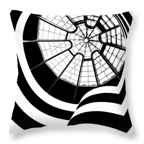 Guggenheim Museum Throw Pillow featuring the photograph Beam Me Up by Az Jackson