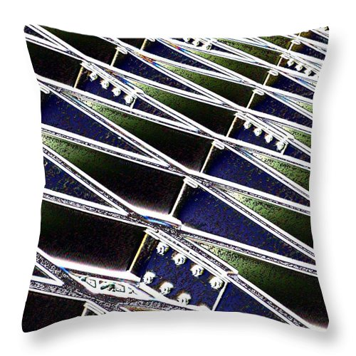Beams Throw Pillow featuring the photograph Beaming by Tim Allen