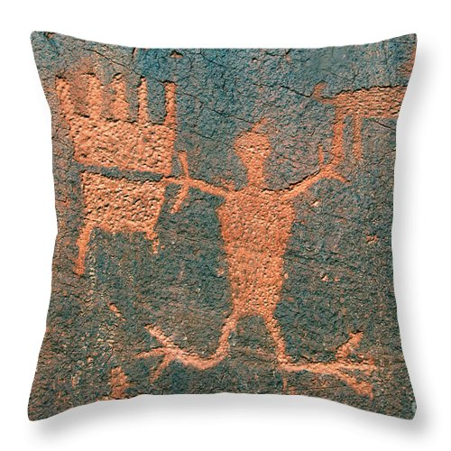 Ute Throw Pillow featuring the photograph Bear Clan Horse Rider by David Lee Thompson