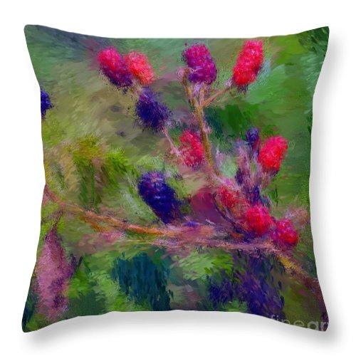 Nature Throw Pillow featuring the photograph Bear Fodder by David Lane