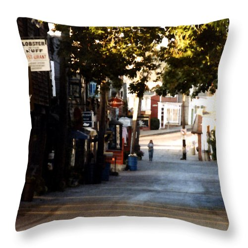 Rockport Throw Pillow featuring the painting Bearskin Neck by Paul Sachtleben
