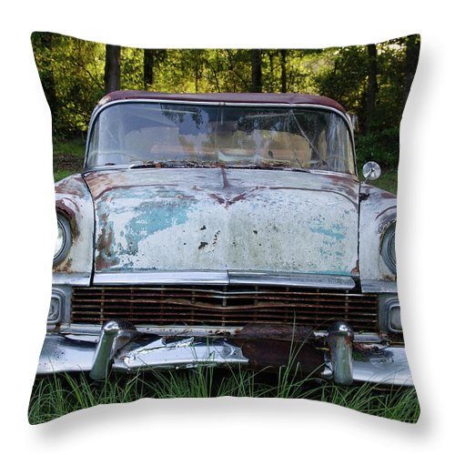Beast Throw Pillow featuring the photograph Beast by Ed Waldrop