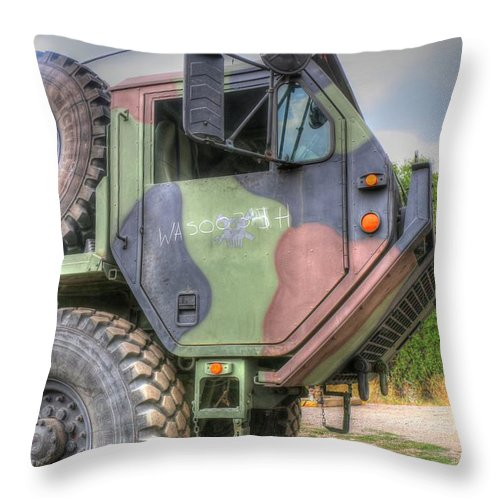 Military Throw Pillow featuring the photograph Beast by Wild Fire