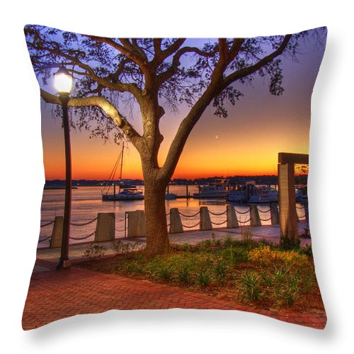 Park Throw Pillow featuring the photograph Beaufort Waterfront by Ches Black