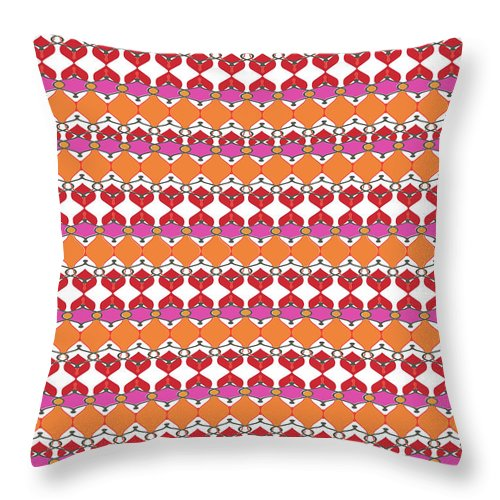 Pink Throw Pillow featuring the digital art Beaumont by Ceil Diskin