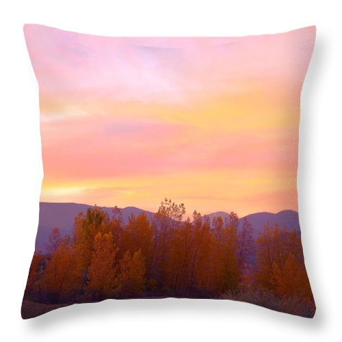 Sunsets Throw Pillow featuring the photograph Beautiful Autumn Sunset by James BO Insogna