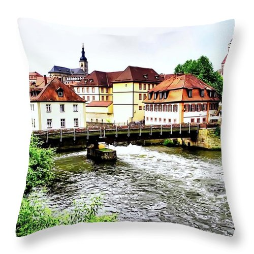 Bamberg Throw Pillow featuring the photograph Beautiful Bamberg On The River by Kirsten Giving