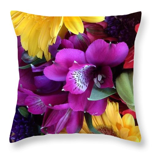 Beautiful Bouquet Throw Pillow featuring the photograph Beautiful Bouquet by By Divine Light