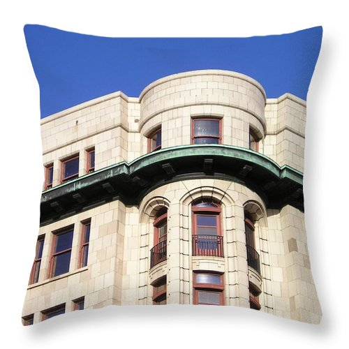 Throw Pillow featuring the photograph Beautiful Buildings Of Victoria 1 by Eve Paludan