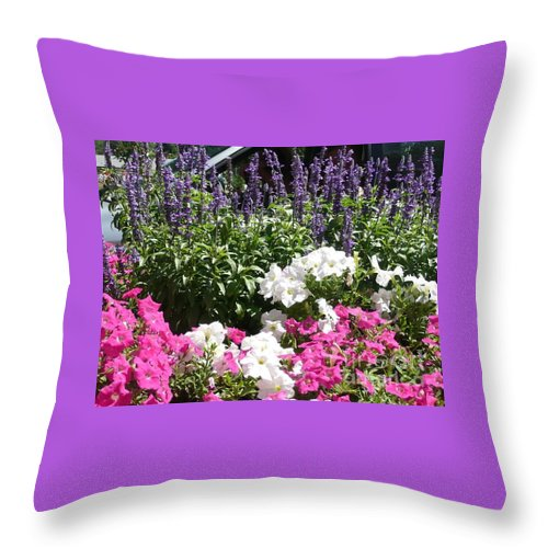 Flowers Throw Pillow featuring the photograph Beautiful Flowers by Barb Montanye Meseroll
