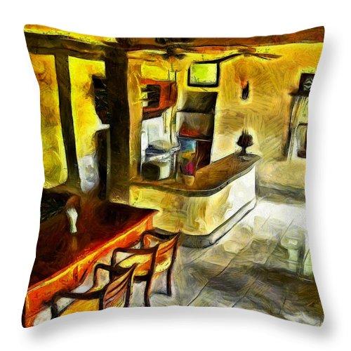 Lobby Throw Pillow featuring the photograph Beautiful Lobby by Ashish Agarwal
