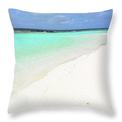Beach Throw Pillow featuring the photograph Beautiful Natural Landscape From Maldives by Oana Unciuleanu