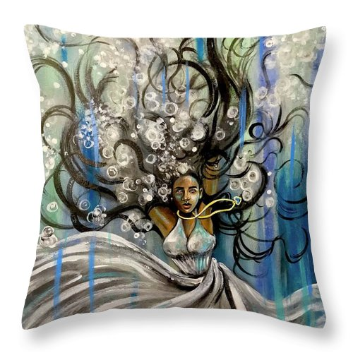 Artist_ria Throw Pillow featuring the painting Beautiful Struggle by Artist RiA