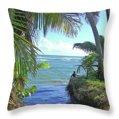 Puerto Rico Throw Pillow featuring the photograph Beautiful Waters Of Puerto Rico by Marilyn Holkham