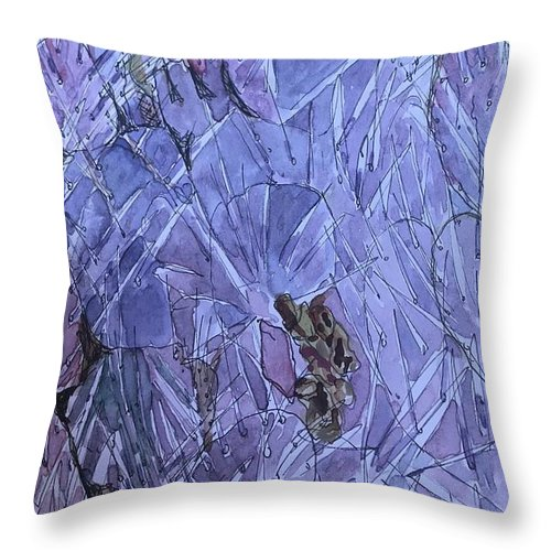 Cactus Throw Pillow featuring the painting Beauty In The Thorns by Dottie Phelps Visker