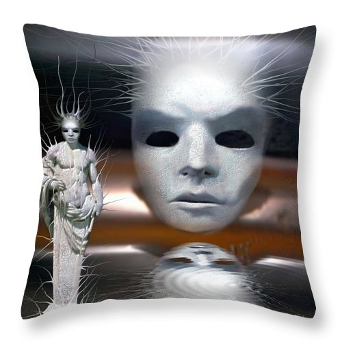 Digital Beauty Eyes Water Throw Pillow featuring the digital art Beauty Is Invisible To The Eye. by Veronica Jackson
