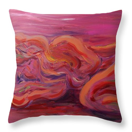 Nude Throw Pillow featuring the painting Beauty by Nadine Rippelmeyer