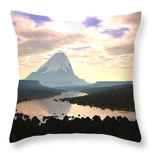 Art Throw Pillow featuring the digital art Beauty by One Ironaut