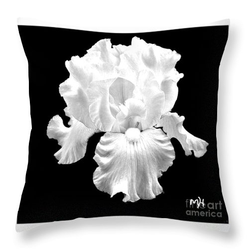 Photo Throw Pillow featuring the photograph Beauty Queen In Black And White by Marsha Heiken