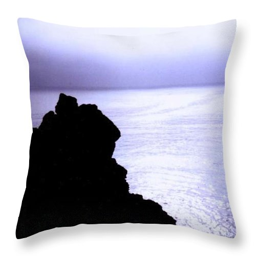 Cliff Throw Pillow featuring the photograph Beckoning God by Vicki Lynn Sodora