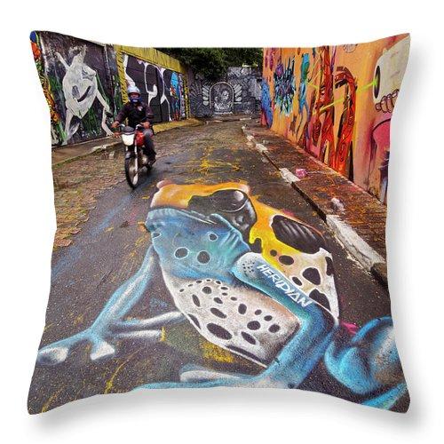 South America Throw Pillow featuring the photograph Beco Do Batman, Sao Paulo, Brazil by Karol Kozlowski