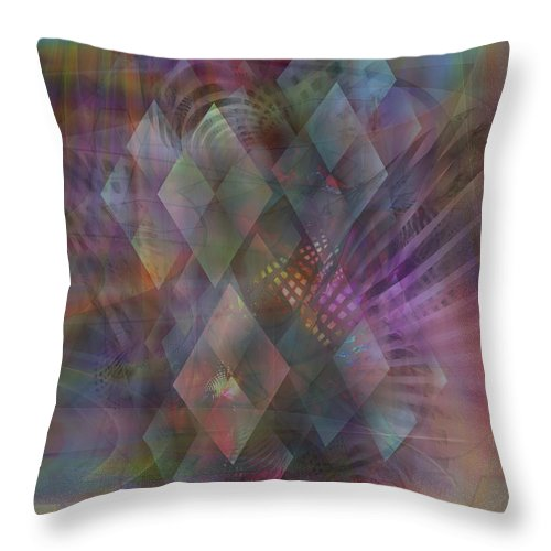 Bedazzled Throw Pillow featuring the digital art Bedazzled by John Beck