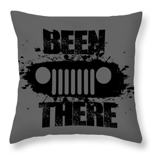 Jeep Throw Pillow featuring the digital art Been There In A Jeep by Paul Kuras