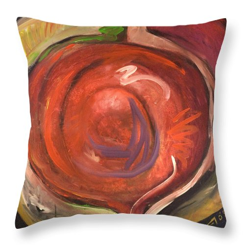 Beet Throw Pillow featuring the painting Beet It by Tim Nyberg