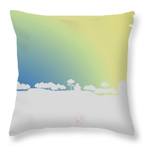 Digital Throw Pillow featuring the digital art Before Dawn by Anil Nene