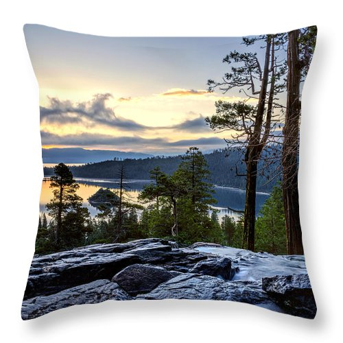 Bay Throw Pillow featuring the photograph Before Sunrise by Maria Coulson