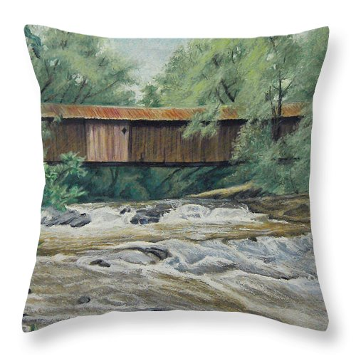 Landscape Throw Pillow featuring the painting Before The Fire by Peter Muzyka