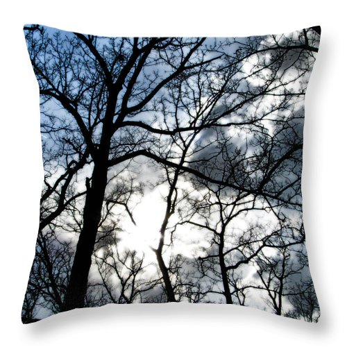 Clouds Throw Pillow featuring the photograph Before The Rain 2 by September Stone