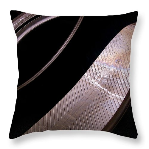 Abstract Throw Pillow featuring the photograph Before The Rubber Meets The Road by Rona Black