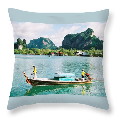 Boats Throw Pillow featuring the photograph Before The Tsunami by Mary Rogers