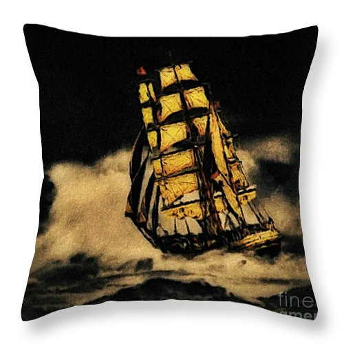 Before The Wind Throw Pillow featuring the photograph Before The Wind by Blair Stuart