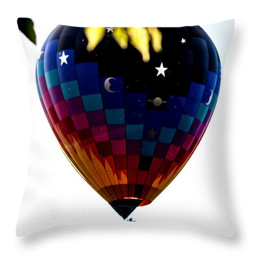 Balloon Throw Pillow featuring the photograph Behind A Leaf by Victory Designs