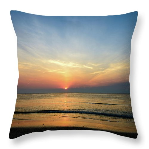 Landscape Throw Pillow featuring the photograph Behind The Clouds by Michael Scott