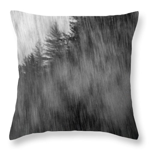 Waterfalls Throw Pillow featuring the photograph Behind The Falls by Richard Rizzo