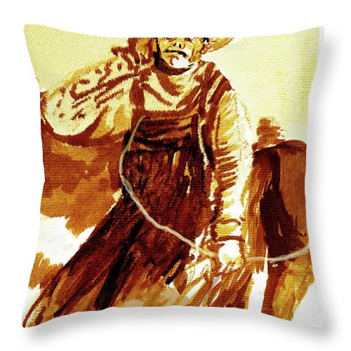 Tobacco Throw Pillow featuring the painting Behind The Plow by Seth Weaver