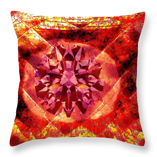 Abstract Throw Pillow featuring the photograph Behold The Jeweled Eye Of Blood by Seth Weaver