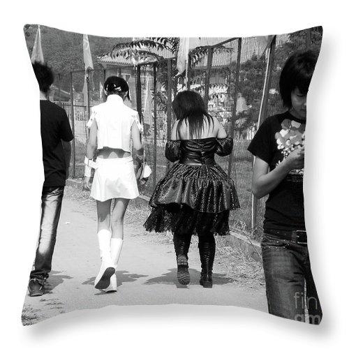 Beijing Throw Pillow featuring the photograph Beijing City 13 by Xueling Zou