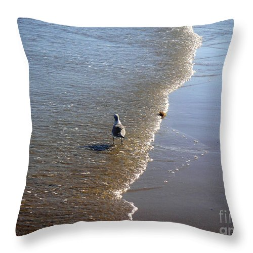Nature Throw Pillow featuring the photograph Being One With The Gulf - Ahead by Lucyna A M Green