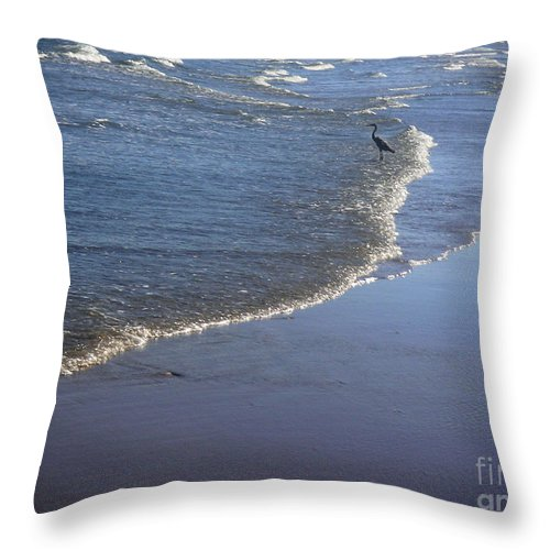 Nature Throw Pillow featuring the photograph Being One With The Gulf - At Peace by Lucyna A M Green