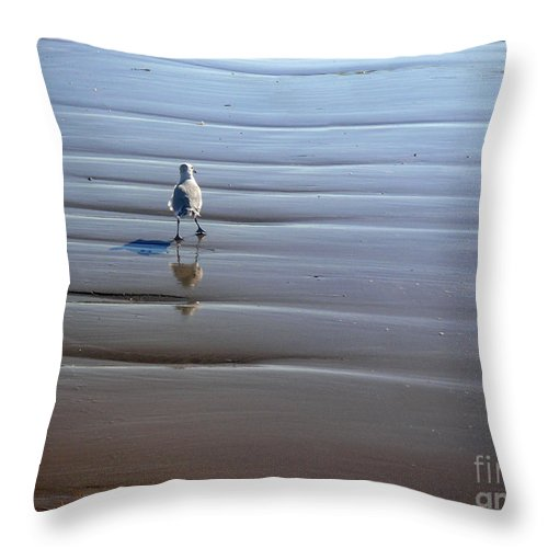 Nature Throw Pillow featuring the photograph Being One With The Gulf - Escaping by Lucyna A M Green
