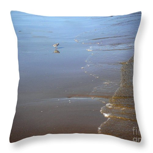 Nature Throw Pillow featuring the photograph Being One With The Gulf - Still by Lucyna A M Green