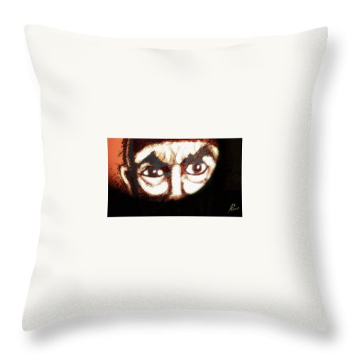 Superhero Art Throw Pillow featuring the painting Bela Lugosi by Jazzboy