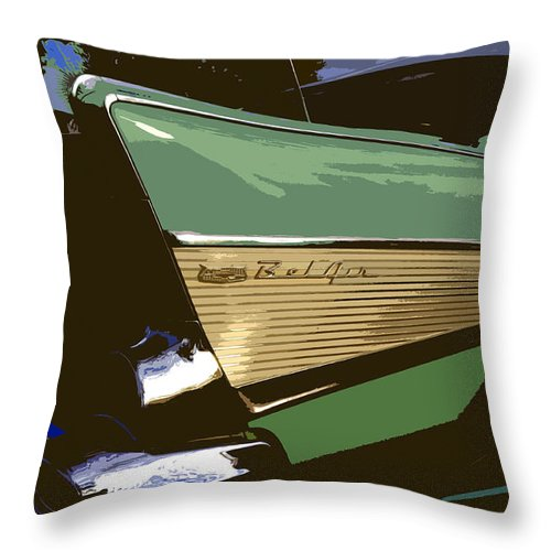 Chevy Throw Pillow featuring the painting Belair by David Lee Thompson